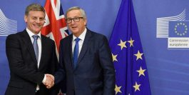 The Prime Minister of New Zealand Bill English meeting with the President of the European Commission Jean Claude Juncker