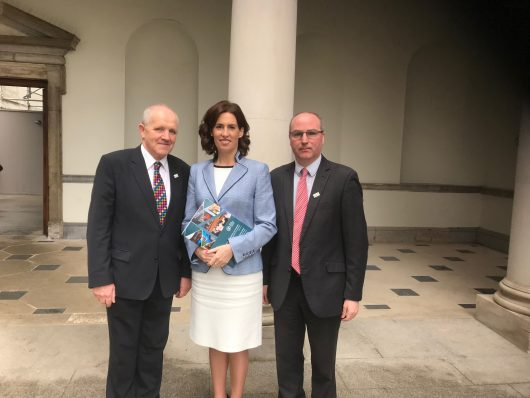 ICOS President Michael Spellman, Hildegarde Naughton TD, Chair of the Joint Oireachtas Committee on Climate Action and Eamonn Farrell, ICOS