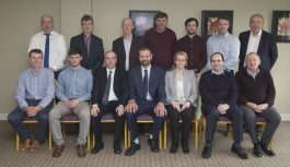 Milk Quality Ireland Committee - Back Row (L/R): Brian Aherne (Fullwood Packo), Jerry Cronin (Glanbia Ireland), Seamus Goggin (Milking Machine Technician), Francis Quigley (Teagasc), John Upton (Teagasc), Hugh Holland (Barryroe) and Pat Dillon (Teagasc). Front Row (L/R): Willie Ryan (Dairygold), Kevin McCabe (Lakeland Dairies), Eamonn Farrell (ICOS), Jerry Long (ICOS), Sinead Farrell (ICOS), Edmond Harty (Dairymaster) and Tom Ryan (Teagasc)